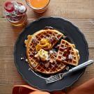 Spiced Pecan Pumpkin Waffles with Homemade Pecan Maple Butter