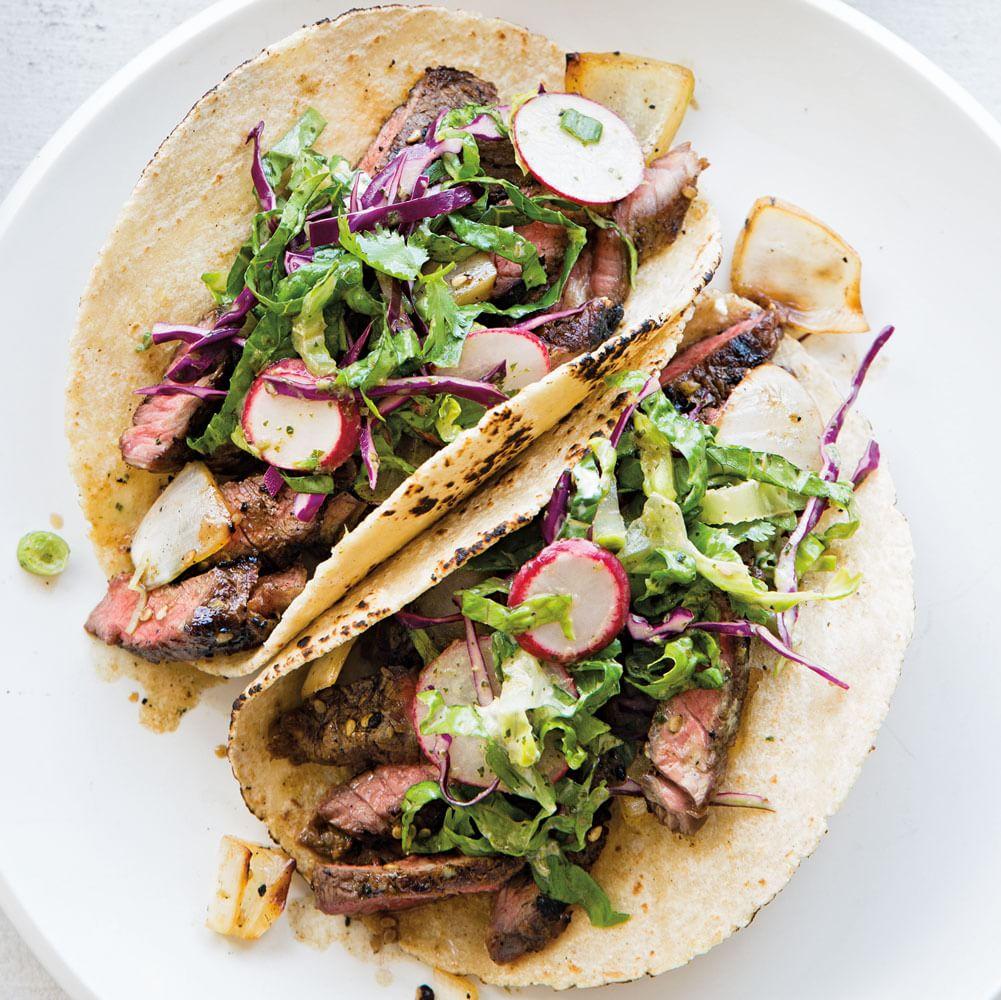 Korean Short Rib Tacos with Asian Slaw   Williams Sonoma