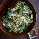 Mushroom and Fennel Salad with Humboldt Fog Cheese