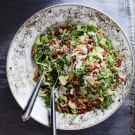 Shredded Brussels Sprout and Kale Salad