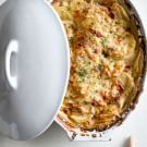 Chive and Black Pepper Potato Gratin