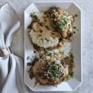 Whole-Roasted Cauliflower with Fresh Herbs