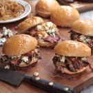 Hanger Steak Sliders with Blue Cheese and Caramelized Onions