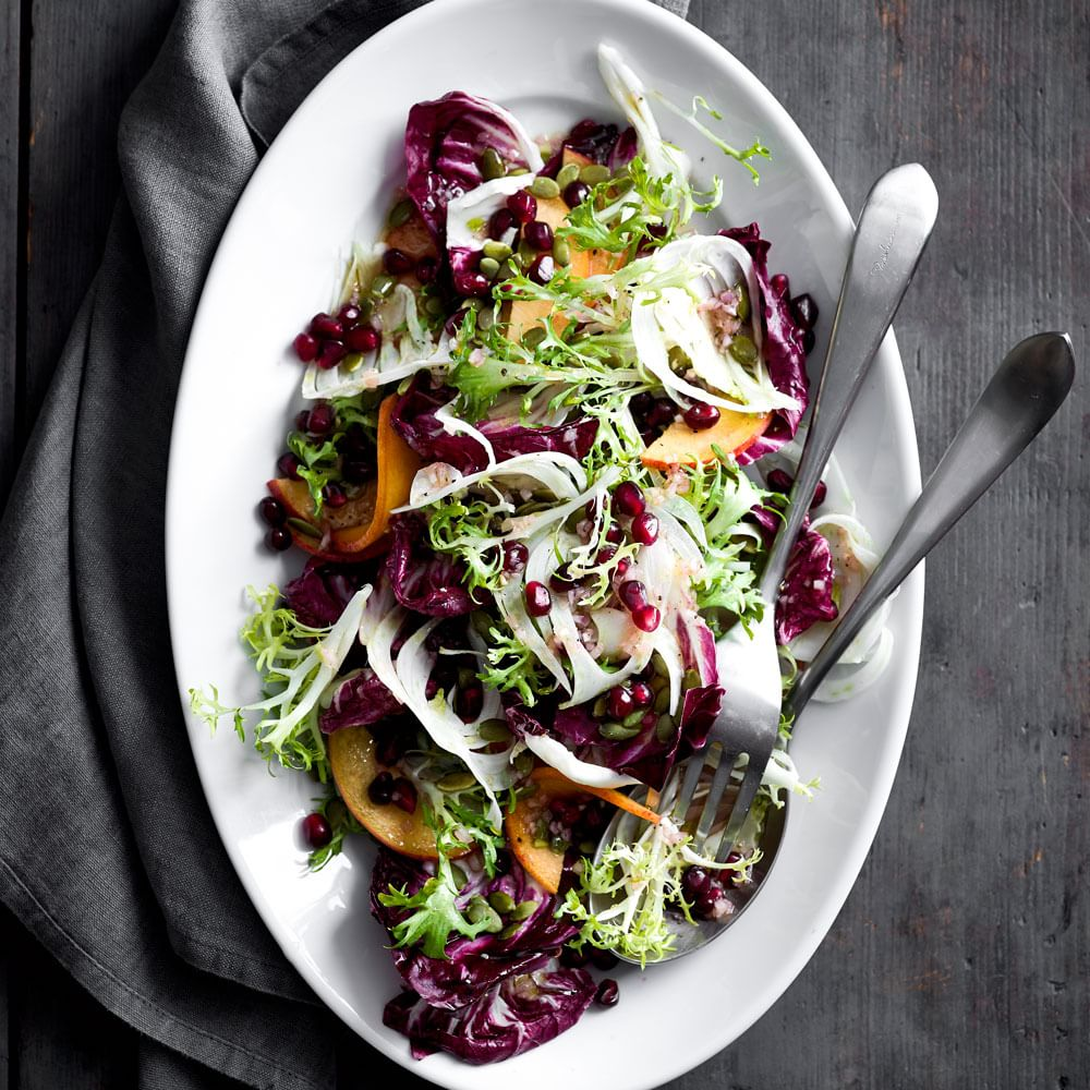 Radicchio, Persimmon and Shaved Fennel Salad | Williams-Sonoma