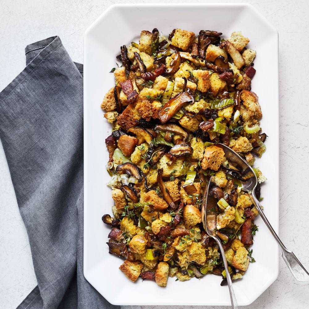 Bacon, Leek and Mushroom Stuffing | Williams-Sonoma