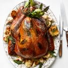 Honey-Glazed Turkey with Sage and Roasted Garlic