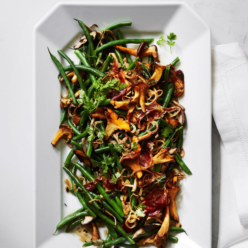green beans with wild mushrooms and crispy shallots reviews for green ...