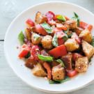 Roasted Red Pepper, Tomato and Sourdough Crouton Salad