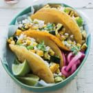 Grilled Corn and Zucchini Tacos