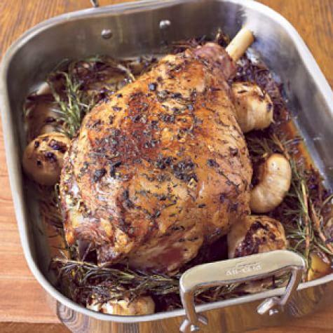 Leg of Lamb with Garlic & Herbs