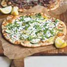 Zucchini & Basil Pizzas