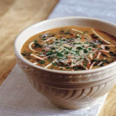 White Bean Pasta and Swiss Chard Soup