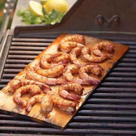 Cedar-Planked Shrimp