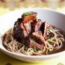 Asian Braised Short Ribs with Noodles
