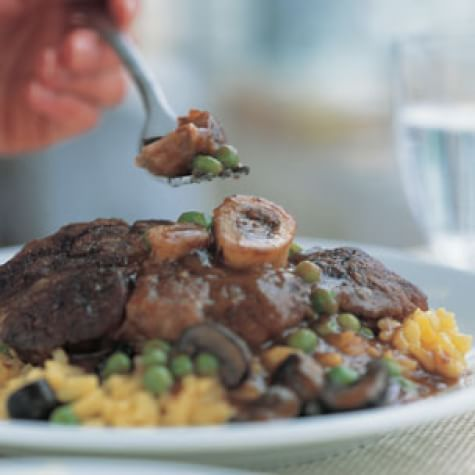 Osso Buco with Mushrooms & Peas