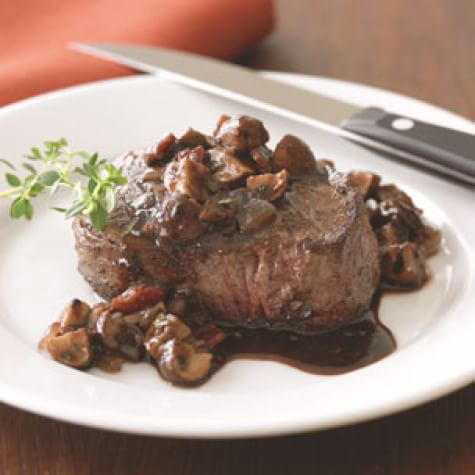 Filets Mignons with Bourguignonne Sauce