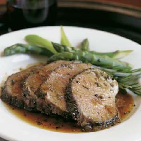 Toasted Garlic and Rosemary-Roasted Leg of Lamb