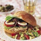 Tuna, Tomato and Olive Sandwich (Pan Bagnat)
