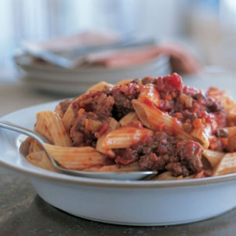 Penne with Beef Ragù