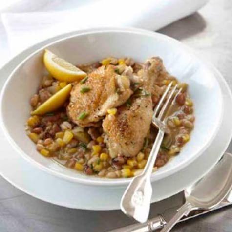 Braised Chicken with Succotash