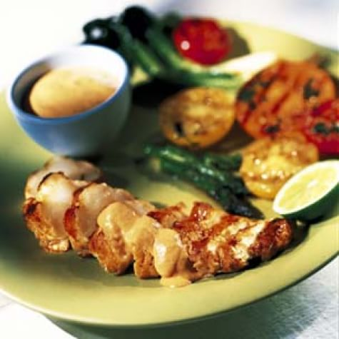 Monkfish with Chipotle Sauce