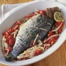 Whole Striped Bass with Fennel and Tomato
