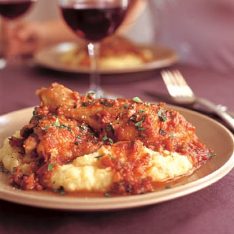 Braised Chicken with Tomato, Pancetta and Zinfandel