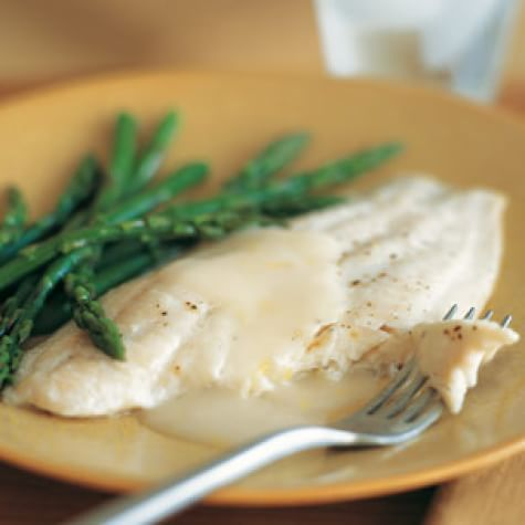 Baked Sole with Asparagus