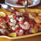 Shrimp, Scallops and Stuffed Squid