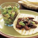 Skirt Steak Fajitas with Avocado Salsa