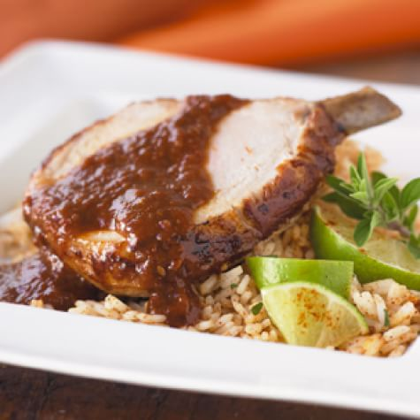 Roasted Pork with Mole Sauce