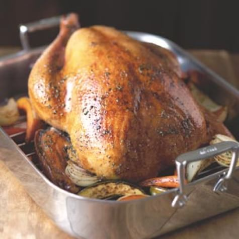 Brined Turkey with Herb Butter