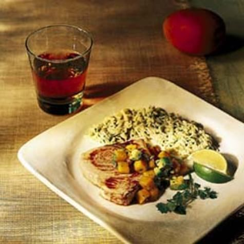 Swordfish Steaks with Mango and Avocado Salsa