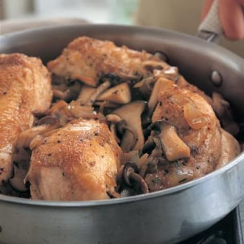 Braised Chicken with Mushrooms
