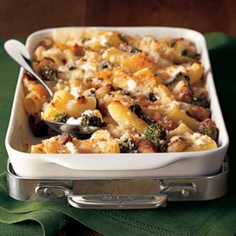 Baked Rigatoni with Sausage & Broccoli Rabe