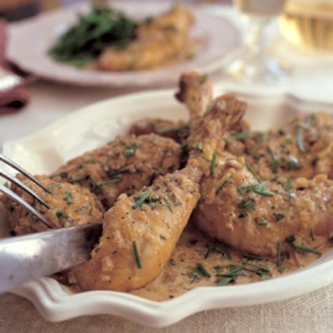 Sautéed Chicken in Riesling