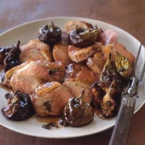 Duck Breasts with Roasted Figs and Balsamic Glaze