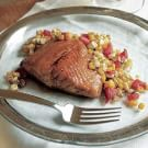 Honey-Glazed Salmon with Roasted Corn Salsa