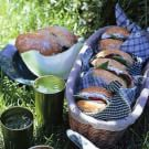 Portobello Mushroom and Goat Cheese Sandwiches