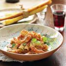 Sicilian Pasta with Shrimp & Almond Cream