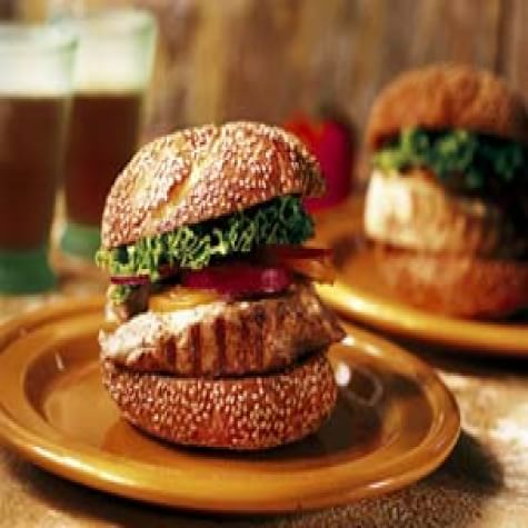 Tuna Burgers with Ginger-Mustard Mayonnaise