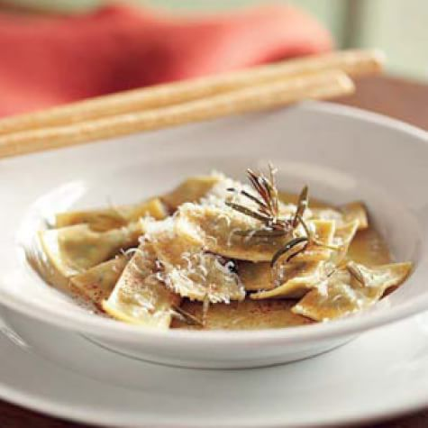 Agnolotti with Brown Butter & Rosemary