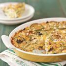 Zucchini and Corn Torta with Cilantro-Lime Crema