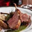 Porcini-Crusted Lamb Chops with Rosemary-Garlic Emulsion