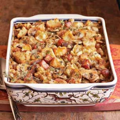 Smoky Bacon-Biscuit Dressing