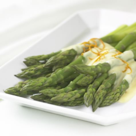 Asparagus with Orange Hollandaise Sauce