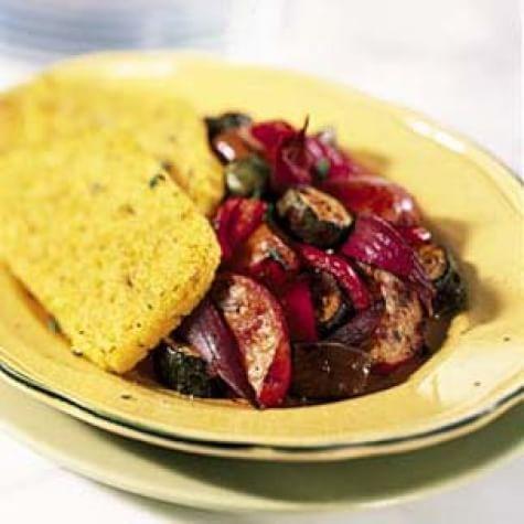 Lemon-Thyme Polenta and Roasted Mediterranean Vegetables