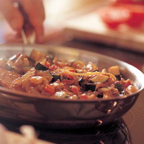 Sautéed Zucchini and Tomatoes