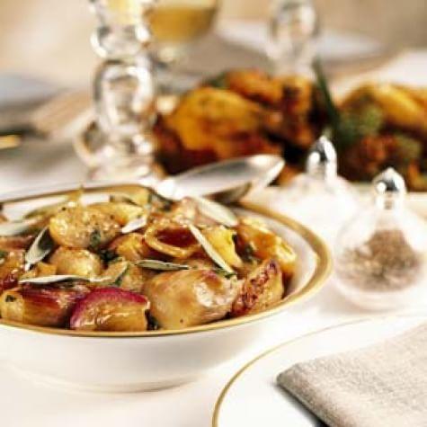 Pan-Roasted Shallots with Sherry Wine Glaze