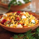Pan-Roasted Corn Salad with Tomatoes and Feta